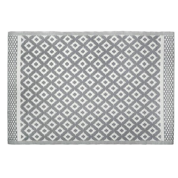 tapis d exterieur 100 plastique recycle maya gris