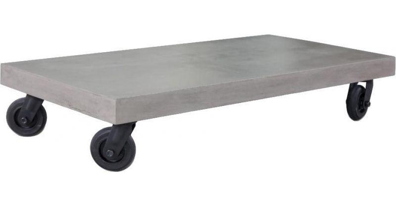 table basse en beton avec roulettes hermitage