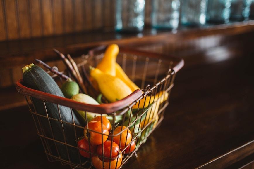 Un joli panier de légumes