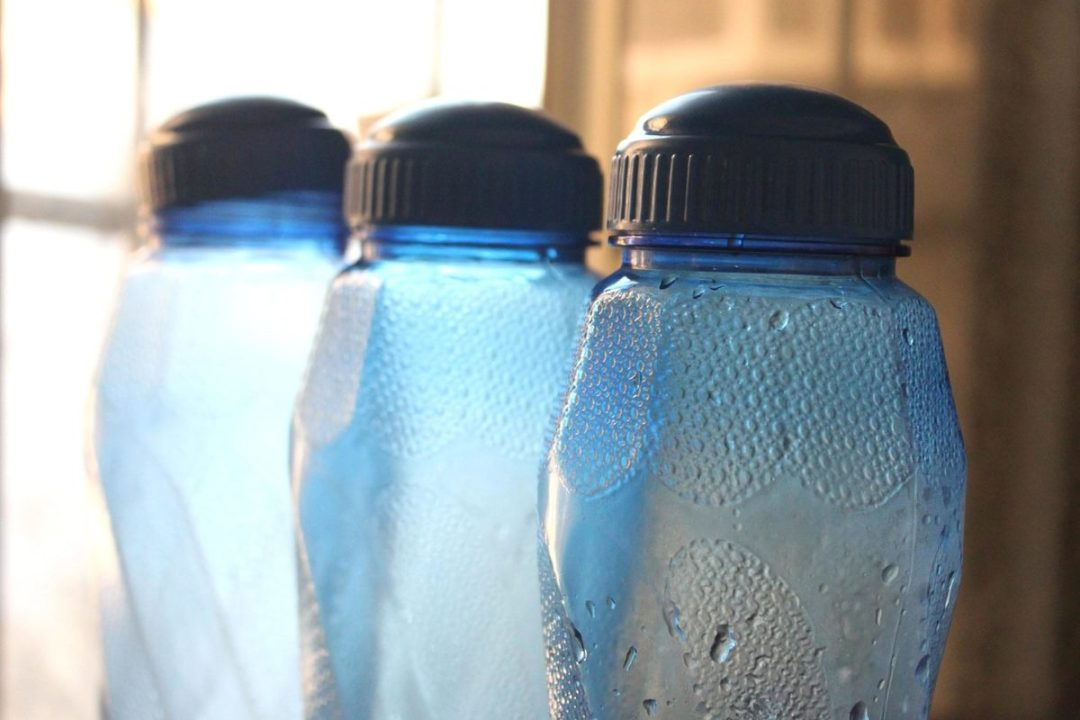 Plastic bottles will serve as watering cans