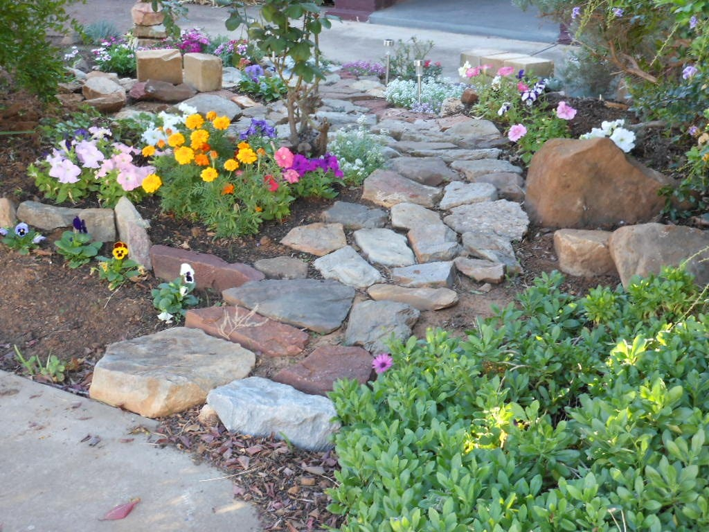 Create a stone path between your plants