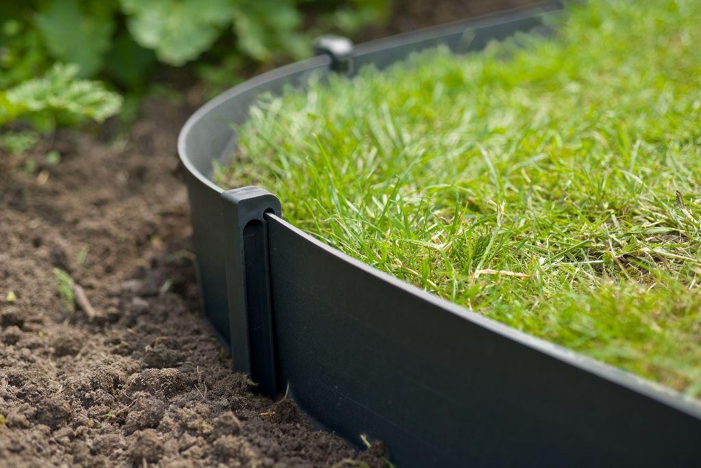 bordure de jardin en polyethylene recycle h 15cm x 10m