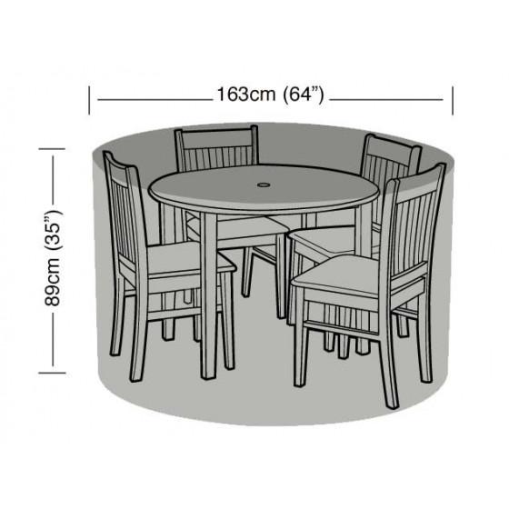 housse de protection table ronde et 4 chaises