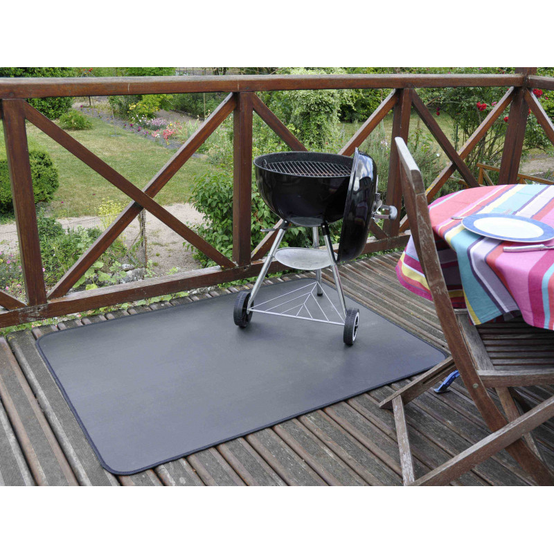 tapis de protection de sol anti feu pour barbecue