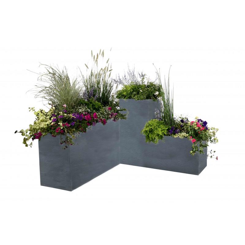 bac a fleurs rectangulaire haut 116 litres