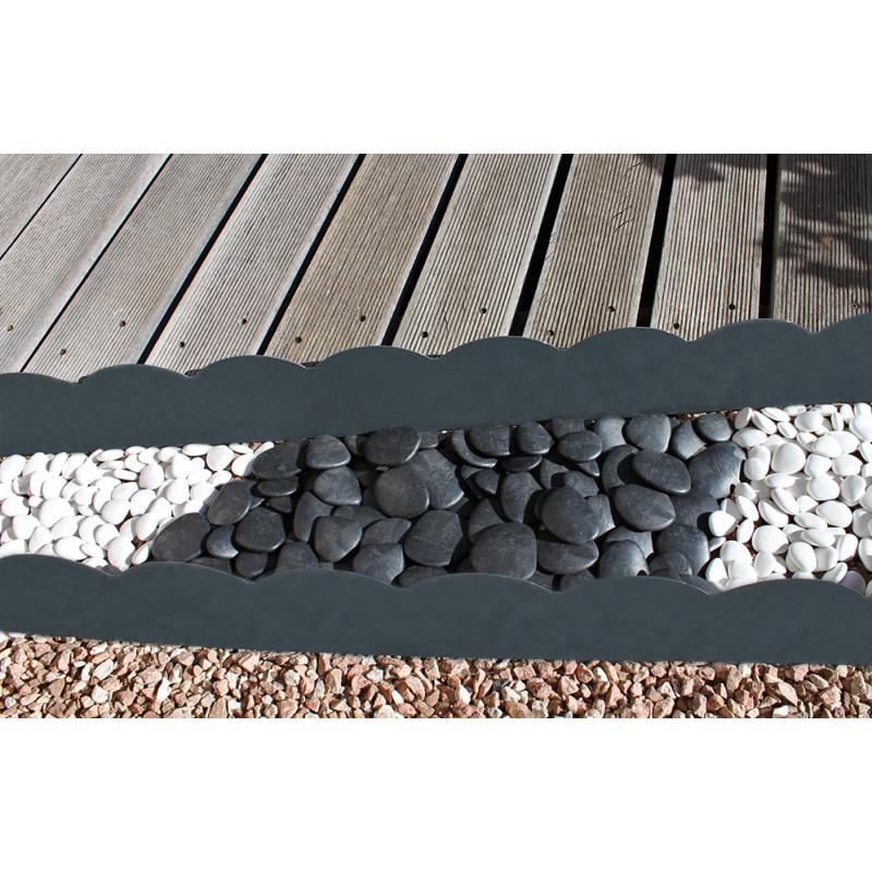 bordure de jardin en acier gris
