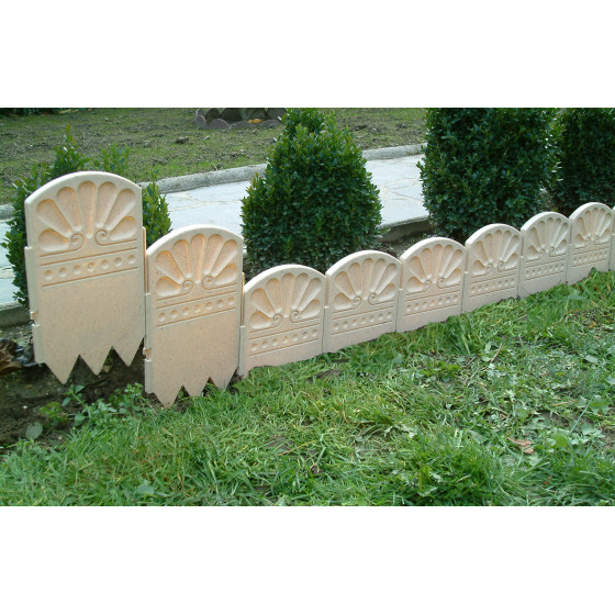 bordure decorative de jardin ton pierre