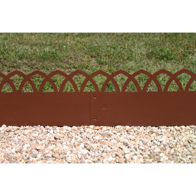 bordure de jardin en acier fer vieilli arcade h 18 cm