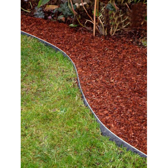 bordure de jardin en acier galvanise brut h 14 cm