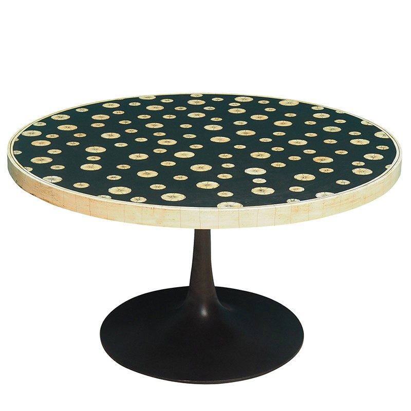 table basse scandinave ronde 90x49cm