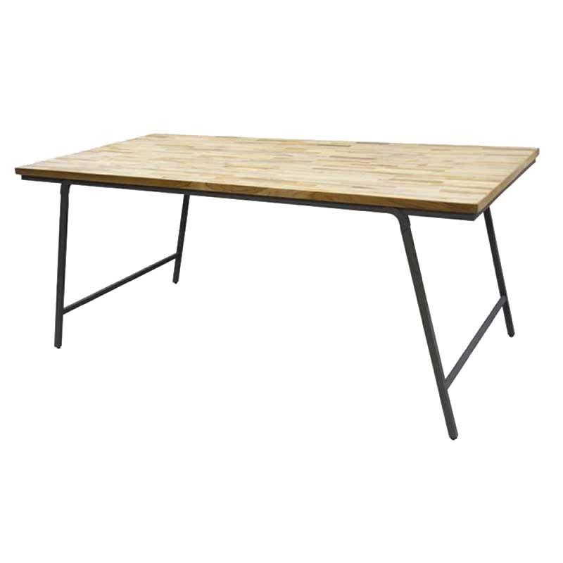 table a manger industrielle pliable 180x90x77 cm