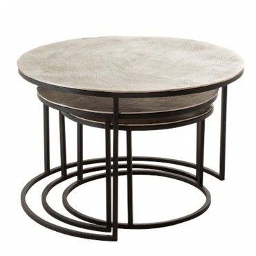 set 3 tables gigognes rondes 74x40 cm jolipa