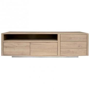 meuble tv chene 180x45x52cm