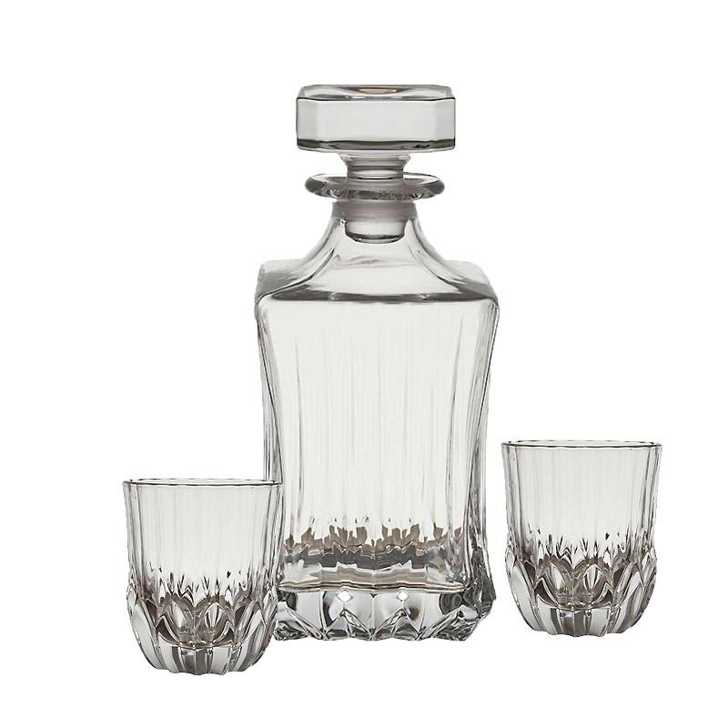 coffret carafe 6 verres whisky abelia 09x22cm