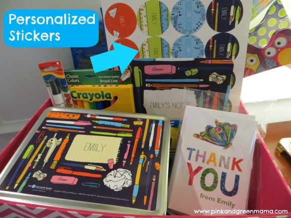 Personalized School Supplies from Chronicle Books