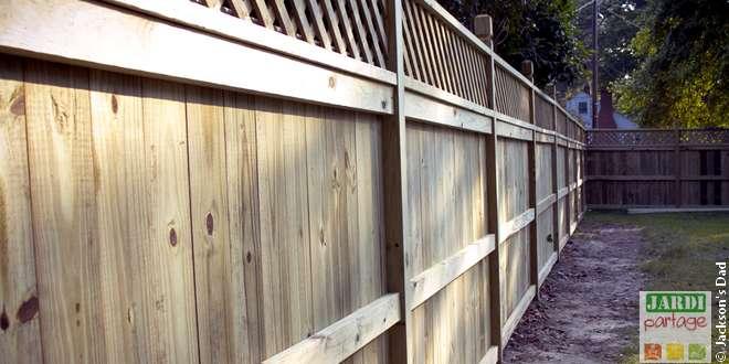 panneaux bois au jardin