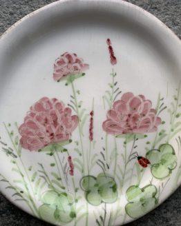 piatto ceramica dipinto a mano