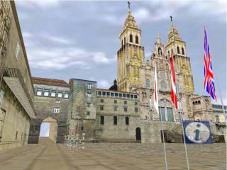 santiago 2000 virtual city plaza del obradoiro