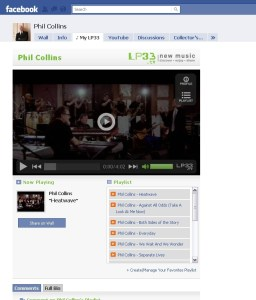 """My LP33"" App Installed on Phil Collins' Facebook Fan Page"