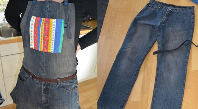 Sy förkläde av gamla jeans