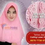 Terima jasa Cutting Laser Jilbab Hijab