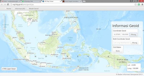 Gambar 1-Menentukan Nilai Undulasi Via Web SRGI
