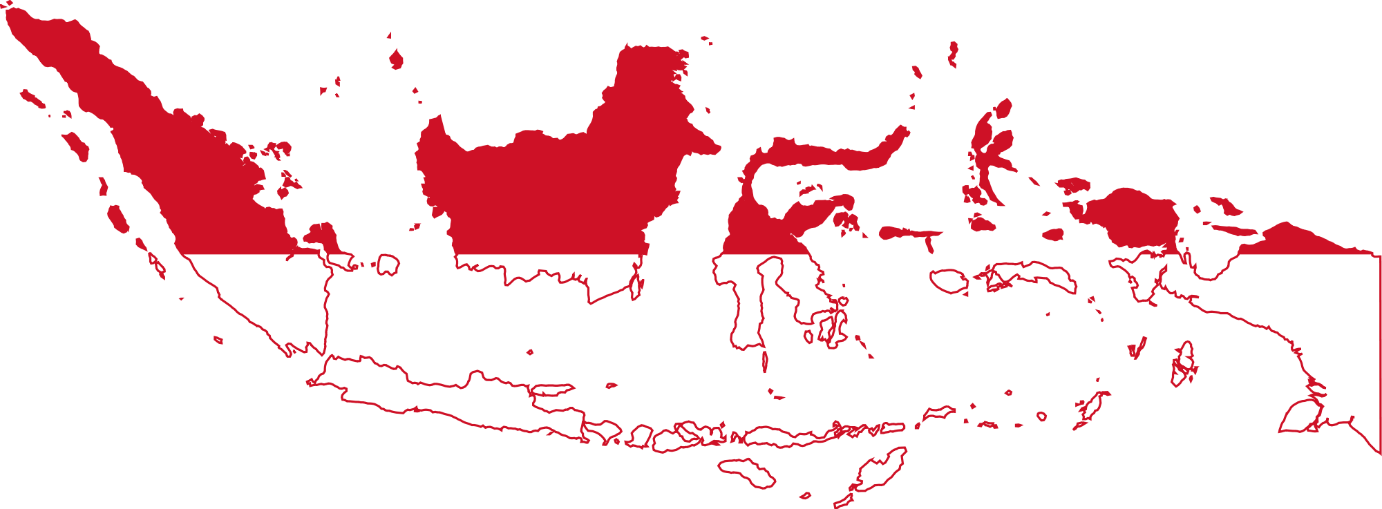Peta Indonesia Merah Putih Wgs Engineering