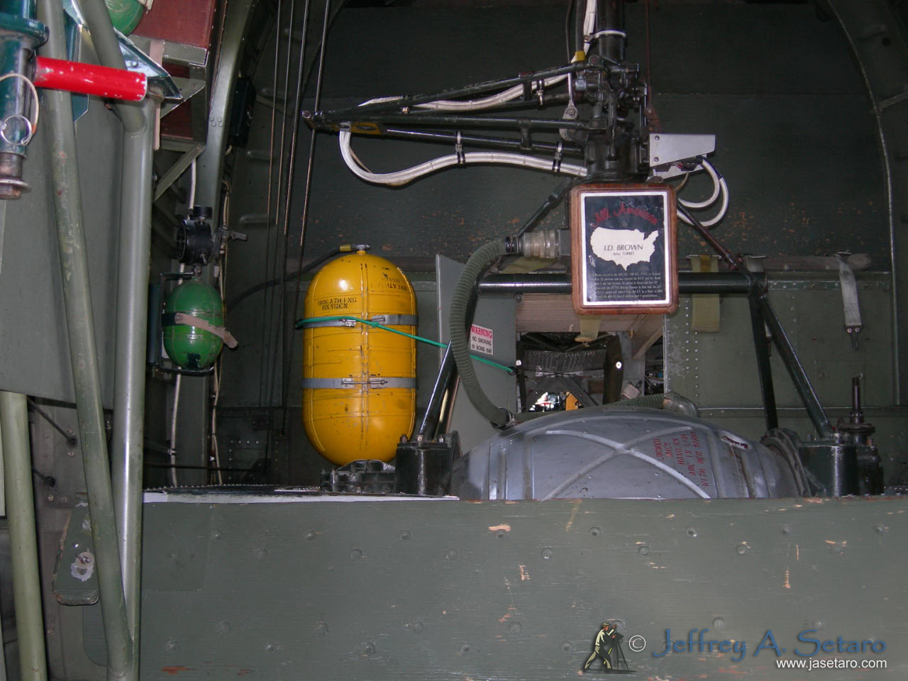 Witchcraft's Interior - the top of the ball turret.