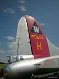 A close up look at the Aluminum Overcast's tail.