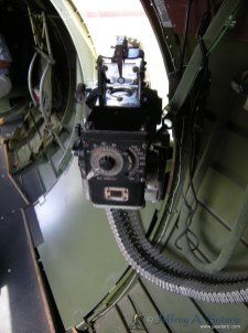 A close-up view of one of the Aluminum Overcast's waist guns.