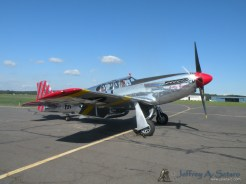 "The ""Betty Jane"" a World War II era North American TP-15C Mustang starting up."