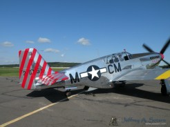 "The ""Betty Jane"" a World War II era North American TP-15C Mustang taxiing out."