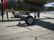 Close up of the Tondelayo's landing gear.