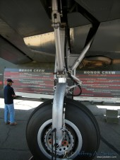 A close up look at one of the Witchcrafts landing gear.