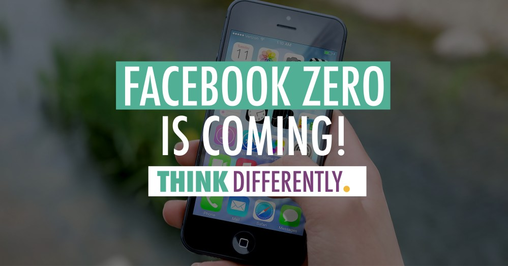 Facebook Zero is Coming | J. Ashley Panter