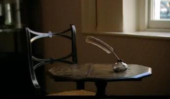 Lo scrittoio di Jane Austen al Jane Austen's House Museum, Chawton, Hampshire