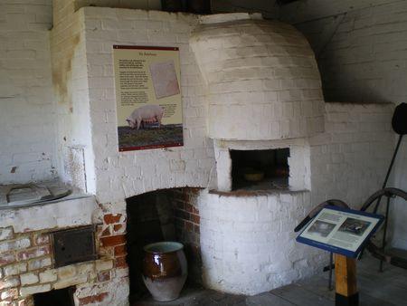Chawton Cottage: la stanza con il forno