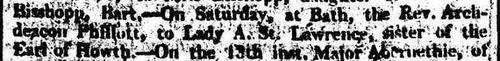 """L'annuncio citato da JA nel """"Salisbury and Winchester Journal"""" del 24 ottobre 1808"""