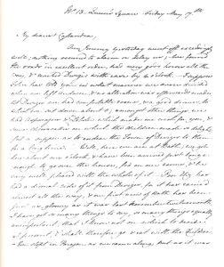 La prima pagina della lettera 19 del 17 maggio 1799 (clic per ingrandire)