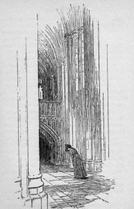 La tomba nella cattedrale di Winchester (ill. Ellen Hill)