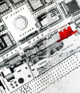 Londra, mappa di Carlton House