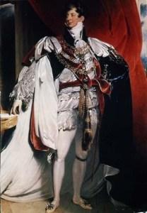 Il principe reggente (dal 1820 re Giorgio IV) ritratto da Thomas Lawrence nel 1816