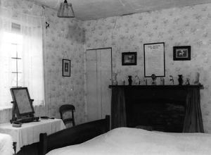 Chawton Cottage, bedroom, 1920