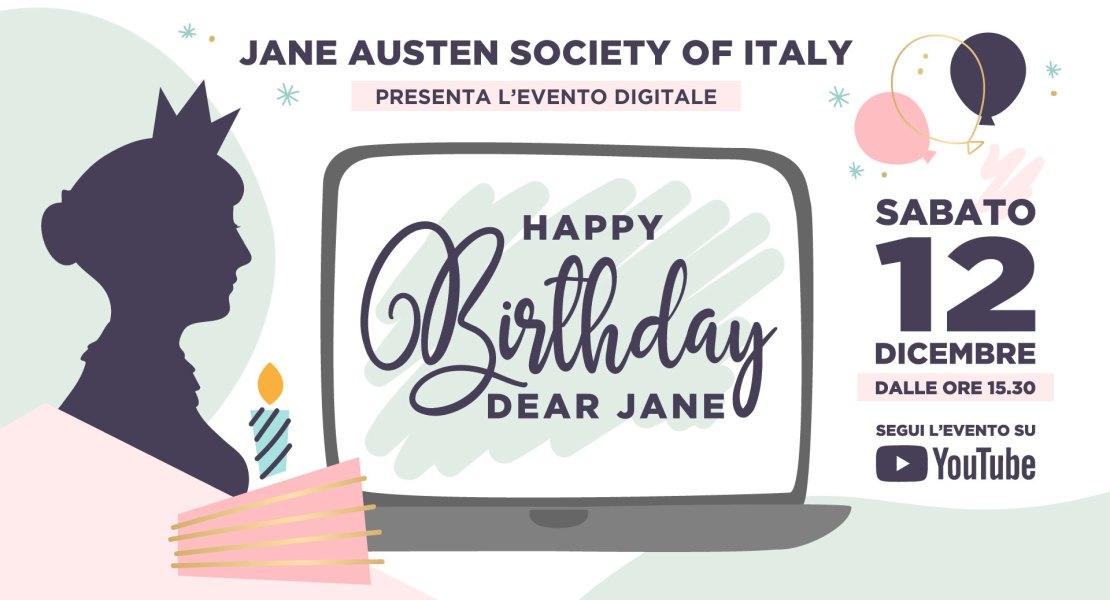 Buon compleanno, cara Jane! Convegno virtuale 12-12-2020