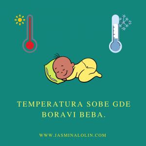 Temperatura sobe gde je beba