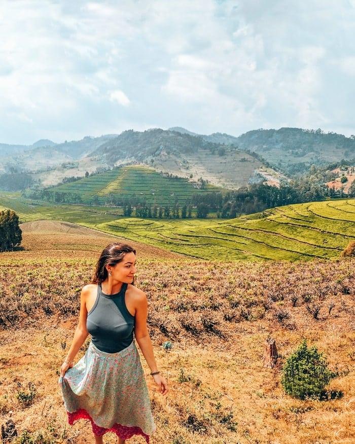 hills at the pfunda tea plantation