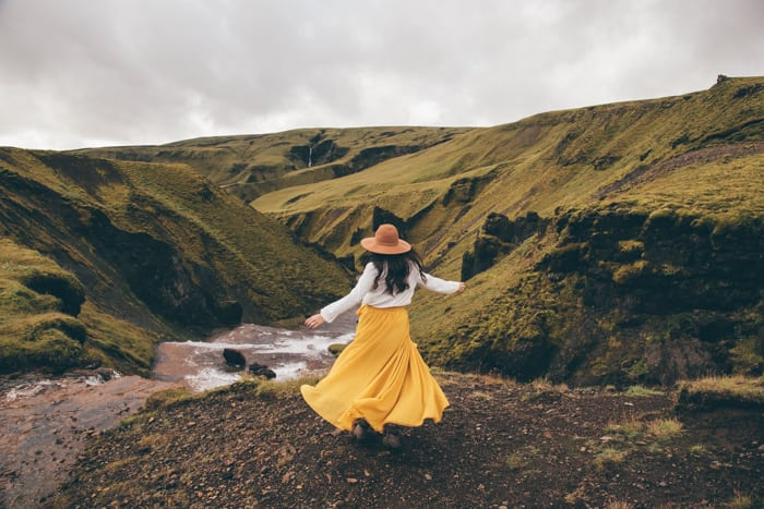 An Iceland itinerary stop on the way to Fagrifoss