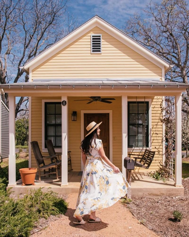 girl at sunday cottage fredericksburg herb farm