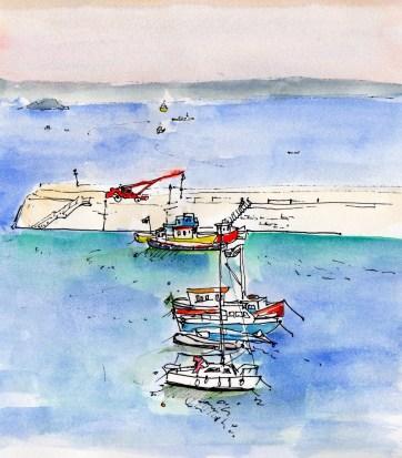 Over looking Tenby Harbour