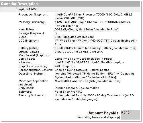 Dell Order